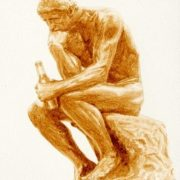 Thinker with a bottle of beer. 2011