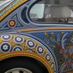 Work by Huichol craftsmen from Mexico