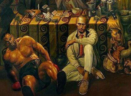 Vladimir Putin in painting of Glazunov