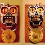 Ordinary door ring bells with weird face