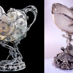 A pair of beautiful Nautilus cups