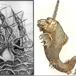 Amazing creatures - details of ancient maps