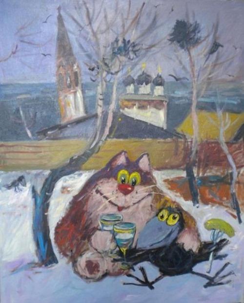 Painting by Vladimir Usatov