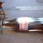 A bottle of Coca-Cola looks too realistic, doesn't it? Beautiful street art by English freelance artist Julian Beever
