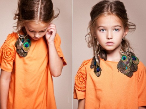 Anastasia Bezrukova, beautiful Russian 8-year-old model