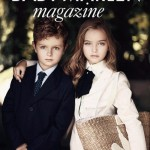 Baby Marlen magazine. Anastasia Bezrukova, beautiful Russian 8-year-old model