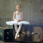 Incanto. Anastasia Bezrukova as ballerina, beautiful Russian 8-year-old model