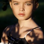 Moscow based child model Anastasia Bezrukova, Russia
