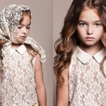 Little princess Anastasia Bezrukova, stunningly beautiful Russian 8-year-old model