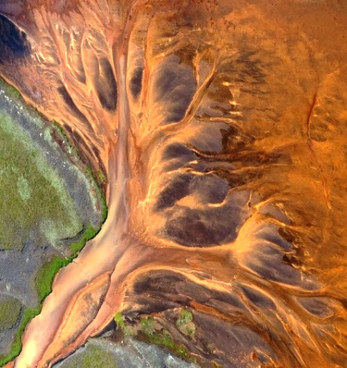 River ornaments Aerial photography