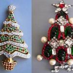 Swarovski Christmas tree pins