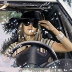 "Hyperrealistic paintings from ""Women at the wheel"" collection, by Italian artist Francesco Capello"