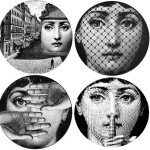 Piero Fornasetti (1913-1988), Italian artist - the facial image of opera singer Lina Cavalieri