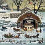 Winter scenes by American artist Charles Wysocki