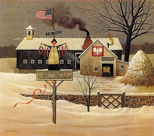Beauty Will Save Winter Scenes By Charles Wysocki Beauty