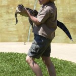 "Bobby Irwin, following his father ""The Crocodile Hunter"" Steve Irwin"
