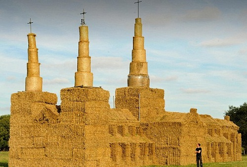Lichfield Cathedral out of straw