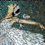 Dance of ballerina. Beautiful mosaic by American artist Laura Harris