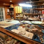 Workshop of American artist Laura Harris