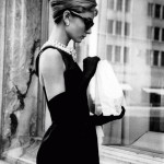 Black gloves and dress, Audrey