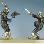 Surreal bronze sculpture by Ukrainian artist Oleg Pinchuk