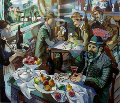 Cafe in Aix. Cezanne. artists by Olga Trushnikova