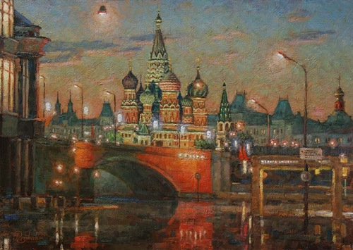 Charm and beauty of Moscow in the paintings of Russian artist impressionist Igor Razzhivin
