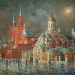 Nikolskaya street. Colors of evening. 2011