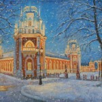 Tsaritsino. Winter tale. 2010. Oil on canvas