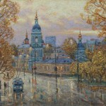 Last days of autumn. Yauza gate square. 2012. Oil on canvas