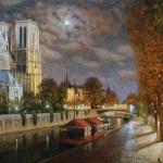 Night Paris. 2009. Oil on canvas