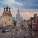 Thunderstorm in Moscow. Artist Igor Razzhivin