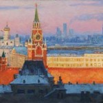 Evening decoration of Moscow. 2011. Oil on canvas