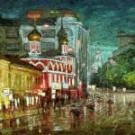 Zabelin street, Moscow. 2014. Oil on canvas