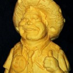 Actually, I don't know this man .Creative cheese sculpture by American artist Sarah Kaufmann