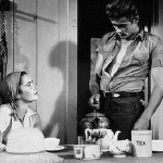 Elizabeth Taylor and James Dean in the film 'Giant' (1956)