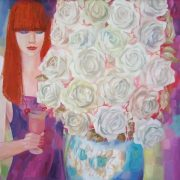 Evening with white roses. 2010. Oil on canvas