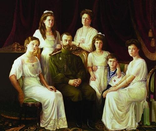 Family portrait of Nicholas II. Painting by Irina Gayduk
