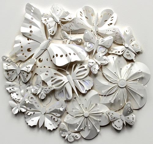 Paper Owl Town by British artist Helen Musselwhite