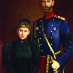 Grand Duchess Elizaveta Feodorovna and Grand Duke Sergei Alexandrovich. The mourning in connection with the death of the Emperor Alexander III. Moscow Novospassky monastery. 2004, oil on canvas