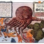 """Humorous Diplomatic Atlas of Europe and Asia"" by Kisaburo Ohara (Japan), 1904"