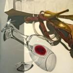 Broken wine-glass
