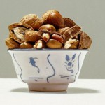 Nuts. Hyperrealistic painting by Italian artist Luciano Ventrone