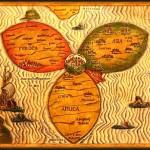 "Jerusalem in the center, ""Guide to the Scriptures"" (Itinerarium Sacrea Scripturea) Henry Bunting, 1545-1606"