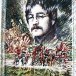 John Lennon. Confession from heaven. 2000. Oil on canvas. Esoteric mysticism in painting by St. Petersburg based artist Sergey Puzanov