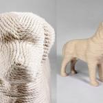 Labrador retriever Lumpi – the Dog scratchpost for cats by Dutch designer Erik Stehmann