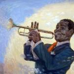 Painting by Russian artist Khalim Amirov