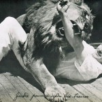 Jackie, the MGM lion with her trainer