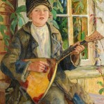 Nikolay Bogdanov-Belsky. Boy with Balalaika