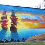 Seascape. MOST Moscow Street Art Festival